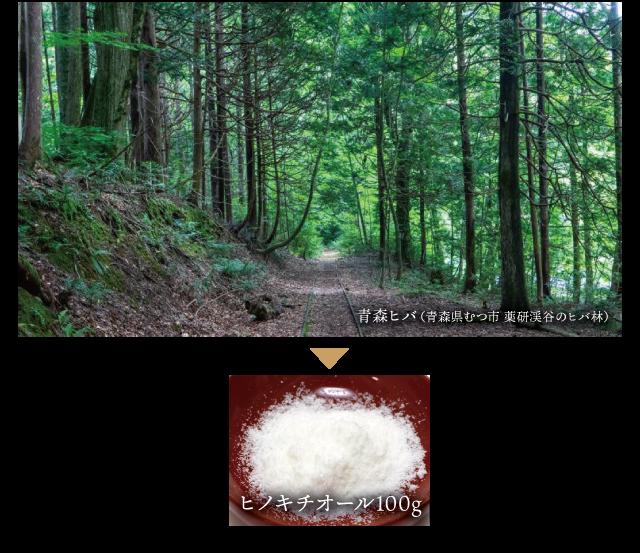 青森ヒバ1トンから、たった100gしか採れない貴重な天然除菌素材